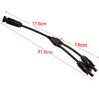 1Pair x Solar Panel Y Type 1 to 2 MC4 Connector M-FF and F-MM Branch Cable-