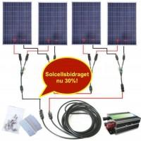 400 watt fotovoltaik solpanel 24V system