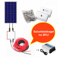 Enkel kit: 100W solpanelsystem