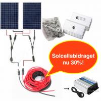 Enkel kit Dubbel: 200W solpanelsystem